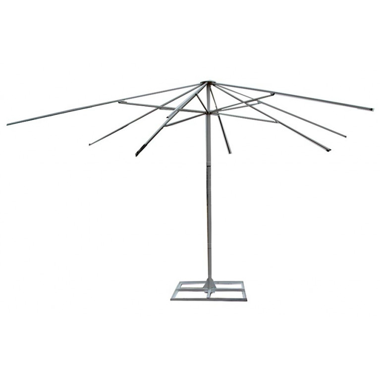 Зонт с рычажным приводом 8Л4,0-76 стойка 76, круглый с диаметром 4 метра