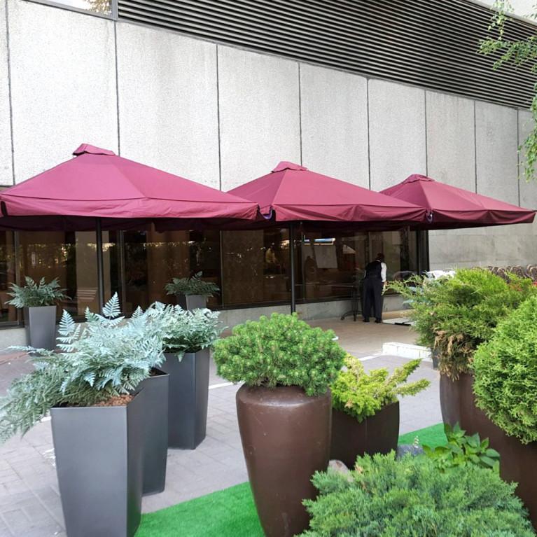 Зонт с рычажным приводом 8Л4x4-76 квадратный