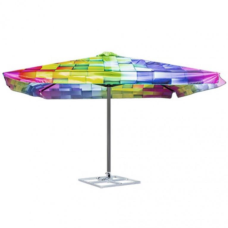 Зонт с рычажным приводом 4Л 2,5x2,5 стойка 51 квадратный