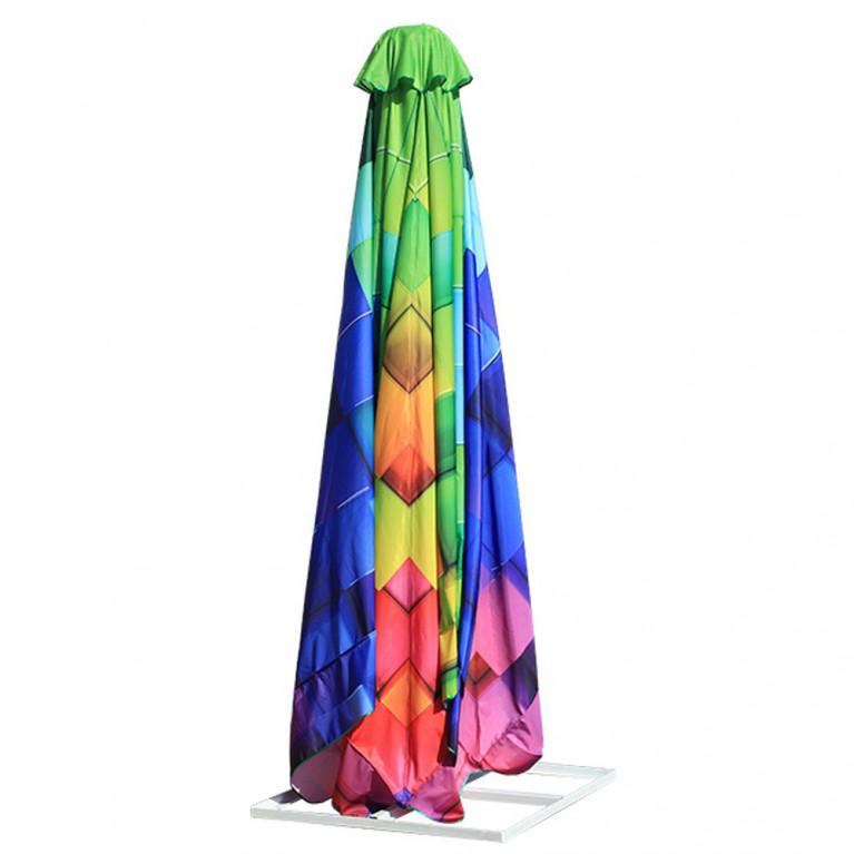 Зонт квадратный с рычажным приводом 4Л 2,5x2,5 стойка 51
