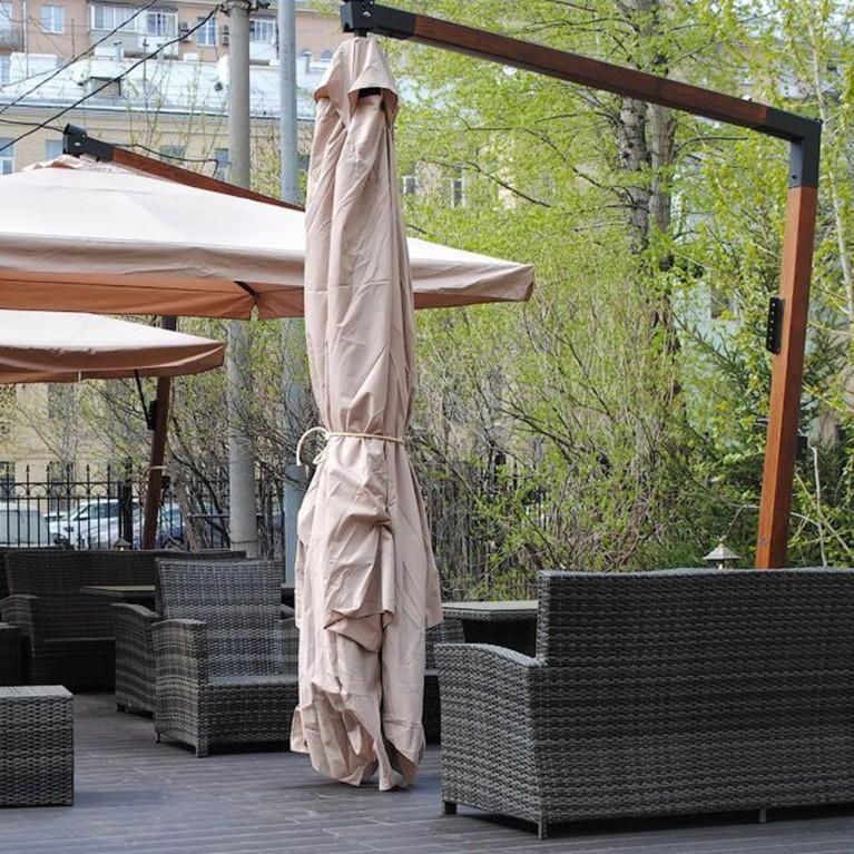 Зонт с боковой деревянной опорой ДС 100 8Л 3,5х3,5 метра