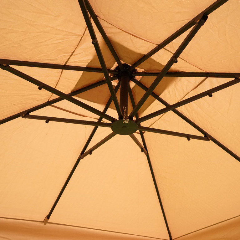 Зонт с боковой деревянной опорой ДС 100 8Л 4х3 метра
