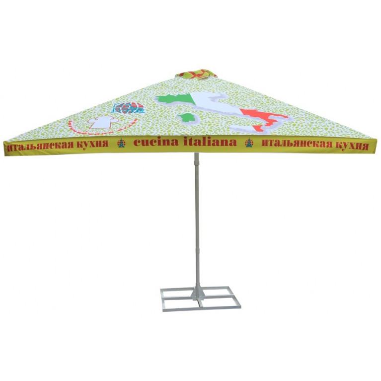 Зонт уличный 8Л3,5х3,5-76ТЛ телескопический квадратный