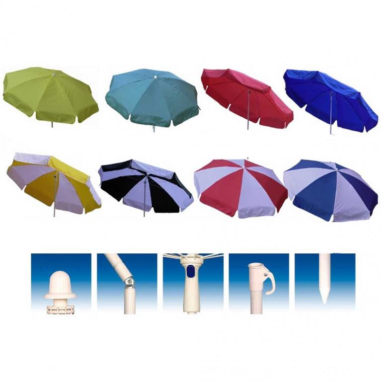 Зонт пляжный от солнца, садовый зонт для дачи 8Л 1,8